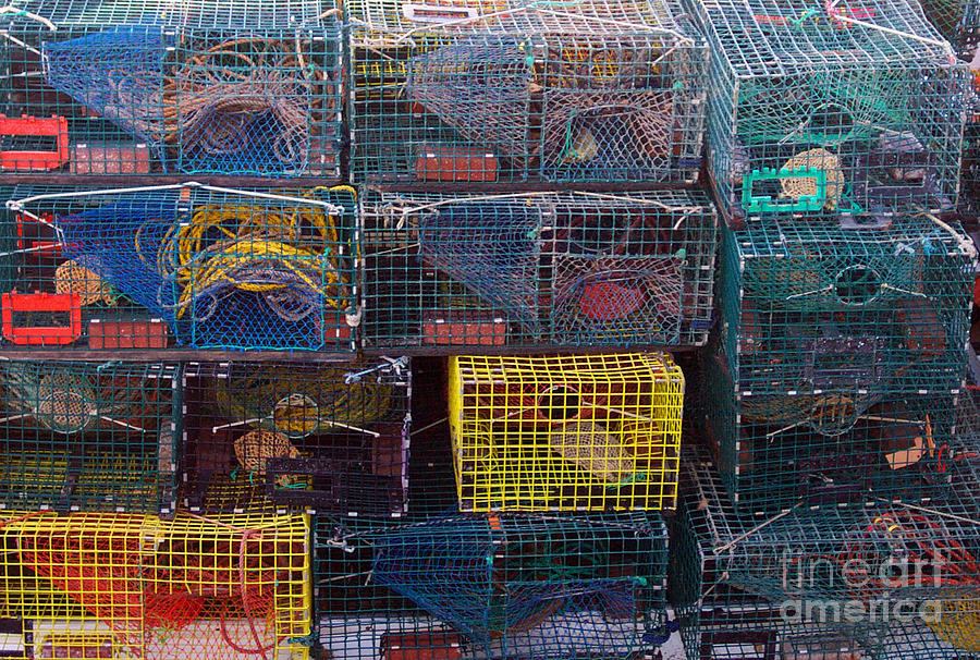 Sea Photograph - Lobster Traps by Linda Drown
