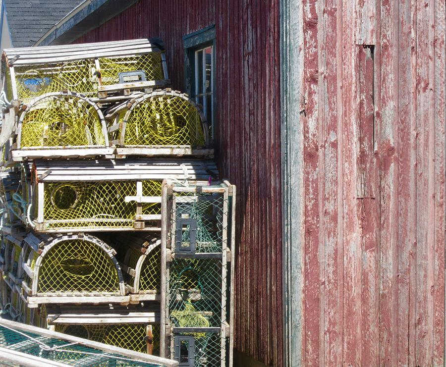Lobster Traps Photograph - Lobster Traps by Stephanie Moore