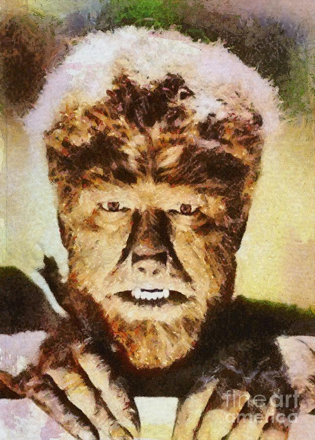 Lon Chaney Jr, As The Wolfman Painting