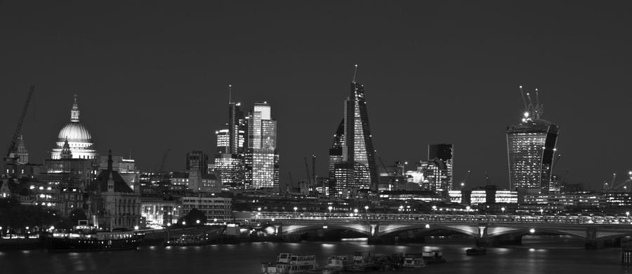 london city skyline photograph by david french. Black Bedroom Furniture Sets. Home Design Ideas