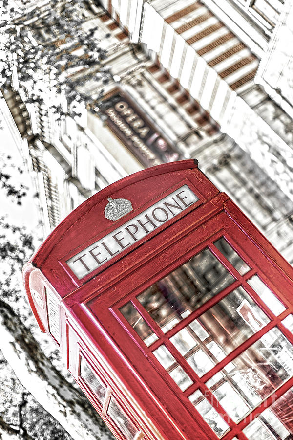 Big Ben Photograph - London Telephone 3b by Alex Art and Photo