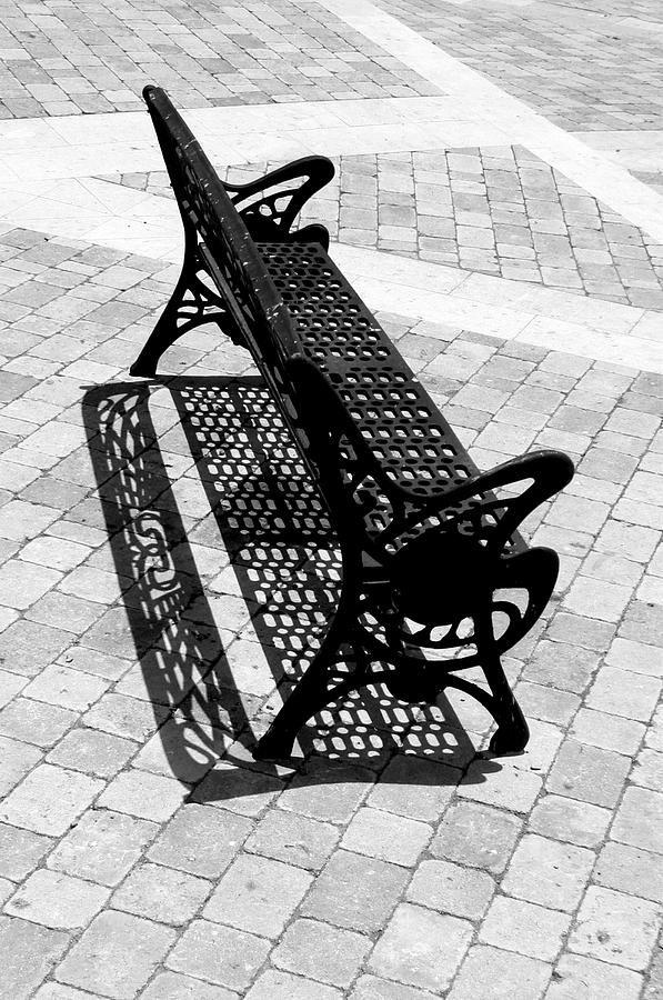 Photographer Photograph - Lone Bench by Jez C Self
