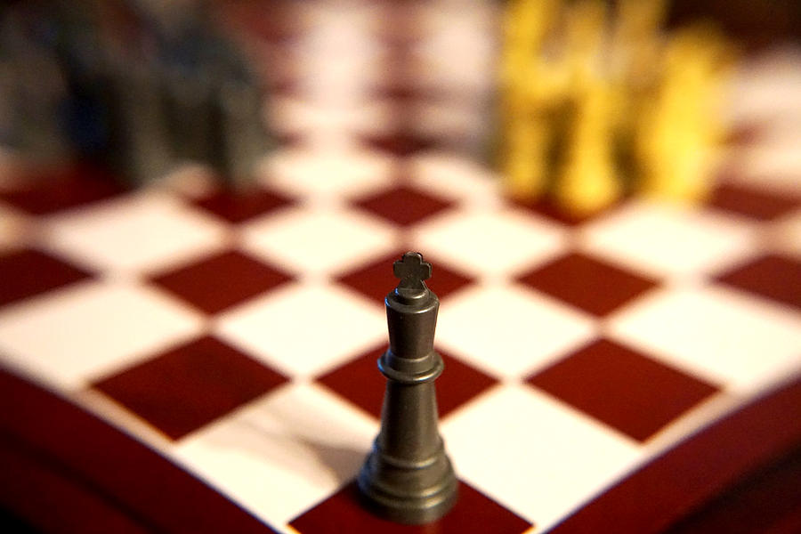 Chess Photograph - Lonely King by William Hall