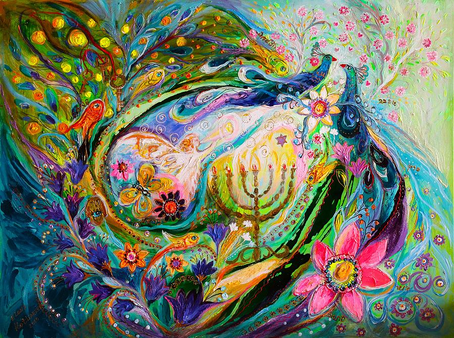 Judaica Store Painting - Longing For Chagall by Elena Kotliarker