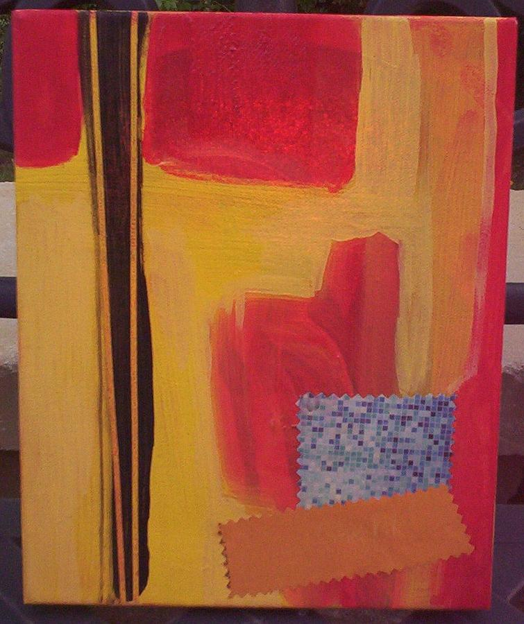 Abstract Painting - Looking Down by Otis L Stanley