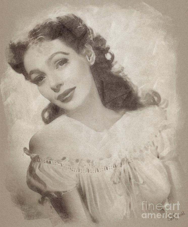 Loretta Young, Actress Drawing