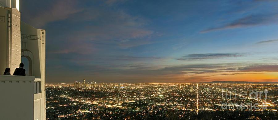 Los Angeles Photograph - Los Angeles City Of Angels by David Zanzinger