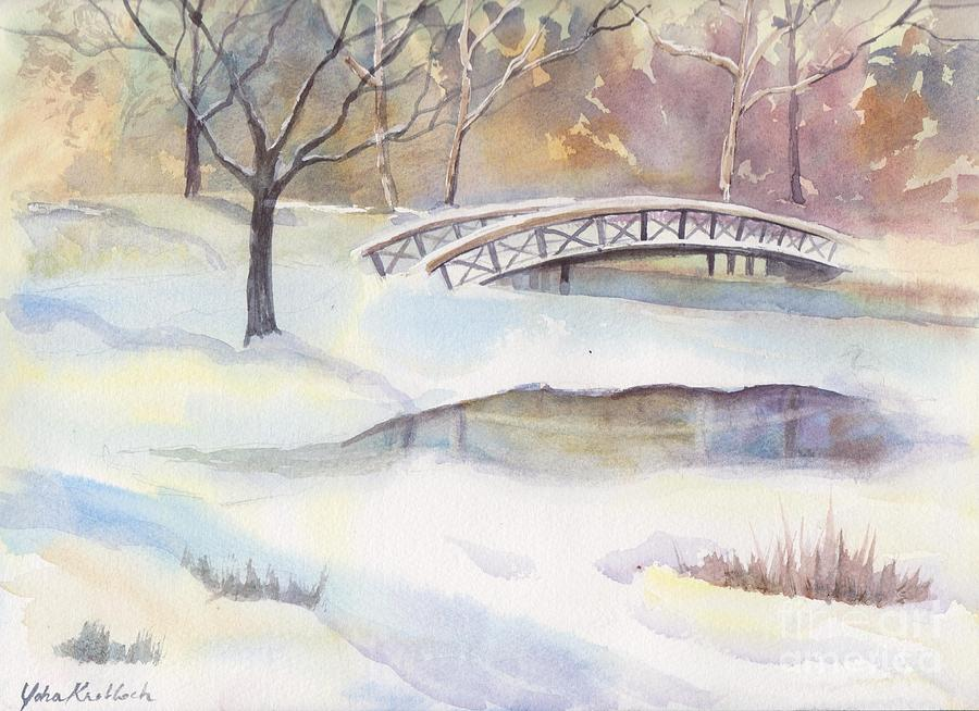 Lost Lagoon Painting - Lost Lagoon Bridge by Yohana Knobloch