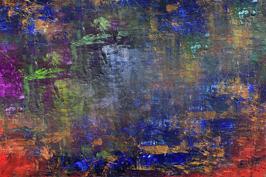 Blue Mixed Media - Lost Lake by Davina Nicholas