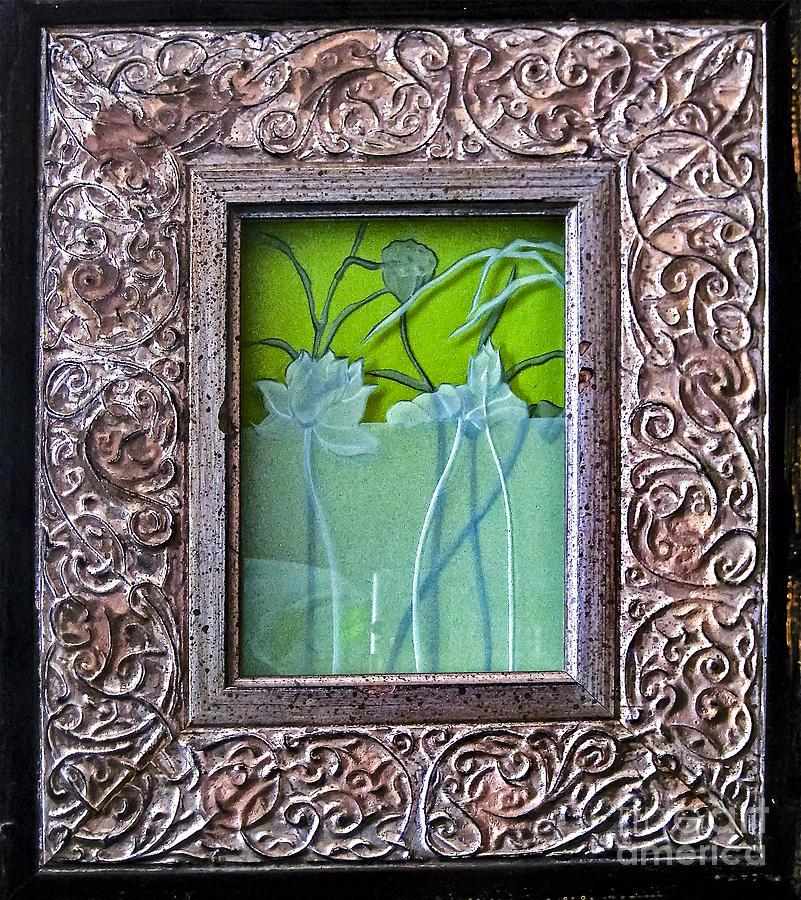 Plants Glass Art - Lotus Pond by Alone Larsen