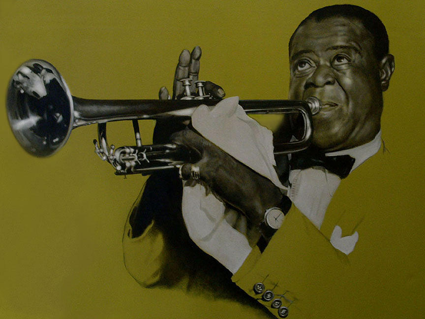 Louis Armstrong Painting by Garry Limuti