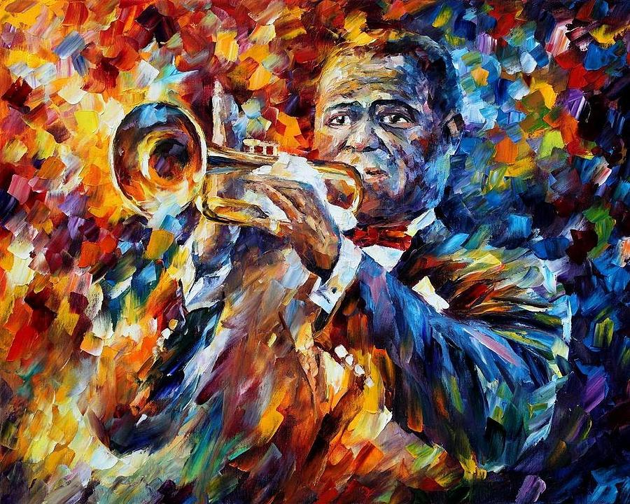 Afremov Painting - Louis Armstrong by Leonid Afremov