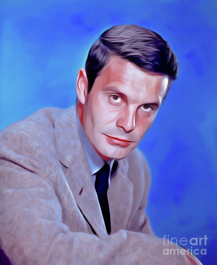 Louis Jourdan, Vintage Movie Star Painting