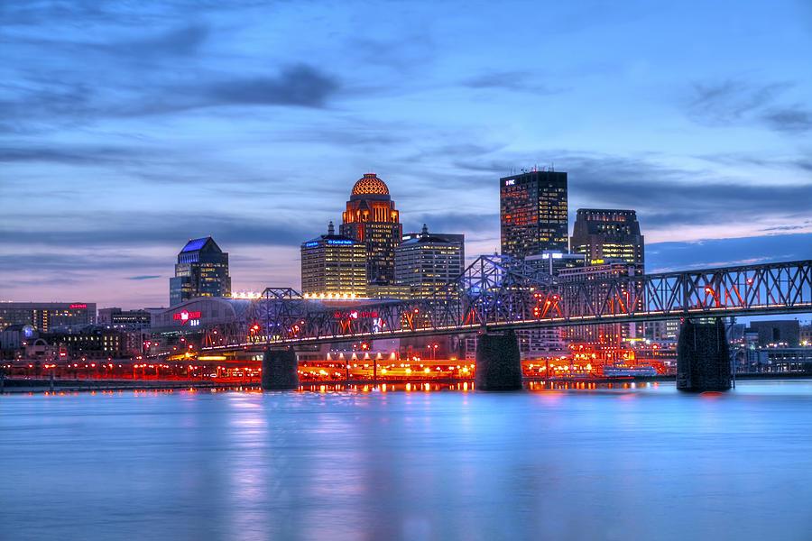 Blue Photograph - Louisville Kentucky by Darren Fisher