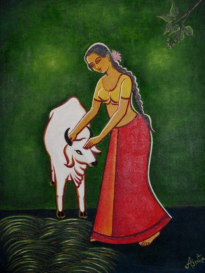 Original Painting - Love by Asmita Savita
