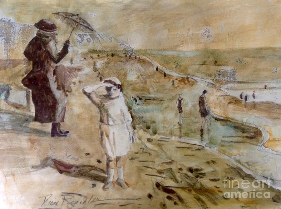 Memorabilia Painting - Love Ted, Seal Beach 1921 by Diane Renchler