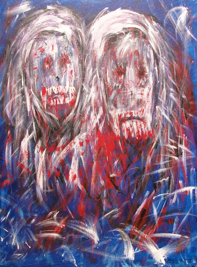 Vampires Painting - Lovers by Randall Ciotti