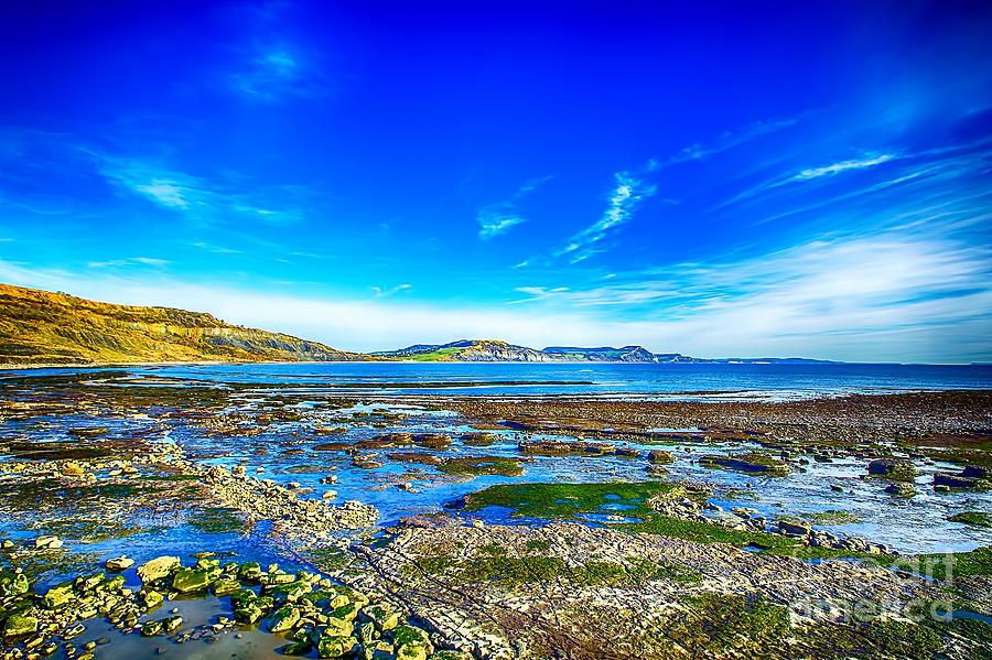 Low Tide At Lyme Regis Photograph