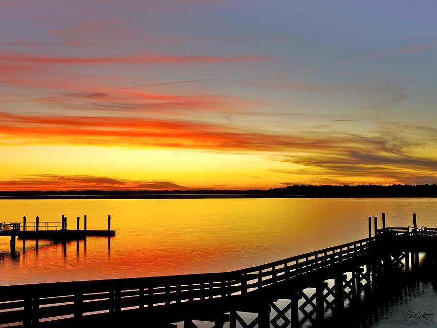 Sunset Photograph - Lowcountry Autumn by Phill Doherty