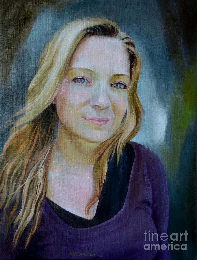 Portrait Painting - Lucia by Jukka Nopsanen