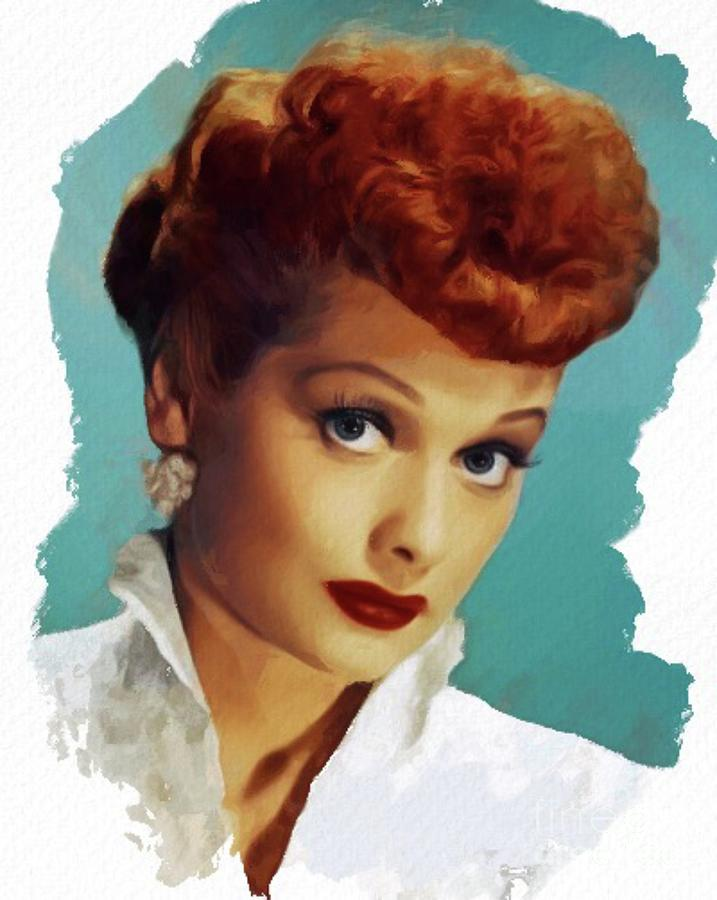Lucille Ball, Actress Painting