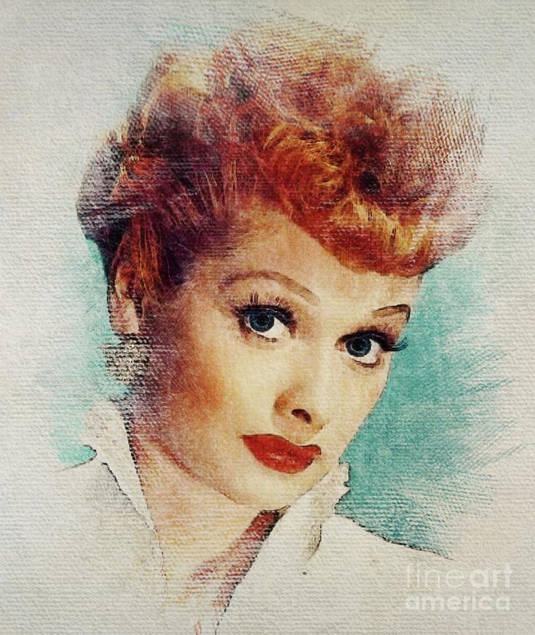 Lucille Digital Art - Lucille Ball, Vintage Actress by John Springfield