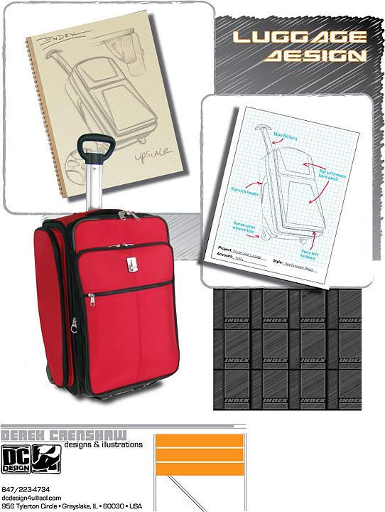 Luggage Design Digital Art by Derek Crenshaw