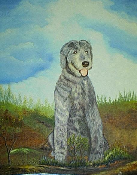 Dogs Painting - Luther by Benito Alonso