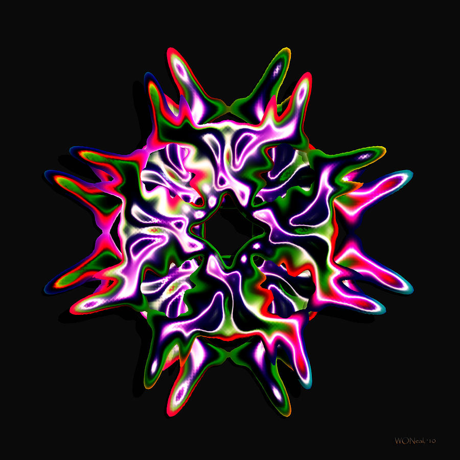 Art Objects Digital Art - Luxe 3 by Walter Oliver Neal
