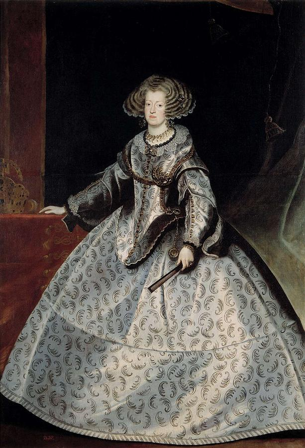 Girl Painting - Luycks, Frans Amberes, 1604 - Viena, 1668 Maria Of Austria, Queen Of Hungary Ca. 1635 by Luycks
