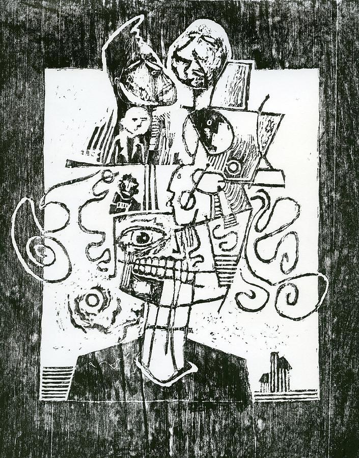 Surreal Drawing - Lyin Isis by Paul  Van Atta
