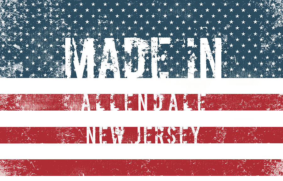 Allendale Digital Art - Made In Allendale, New Jersey by Tinto Designs