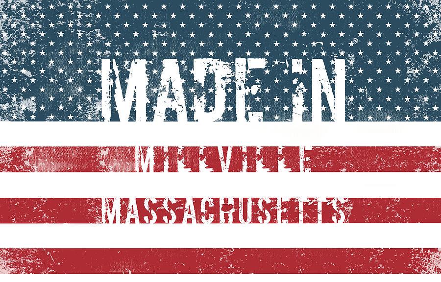 Millville Digital Art - Made In Millville, Massachusetts by Tinto Designs