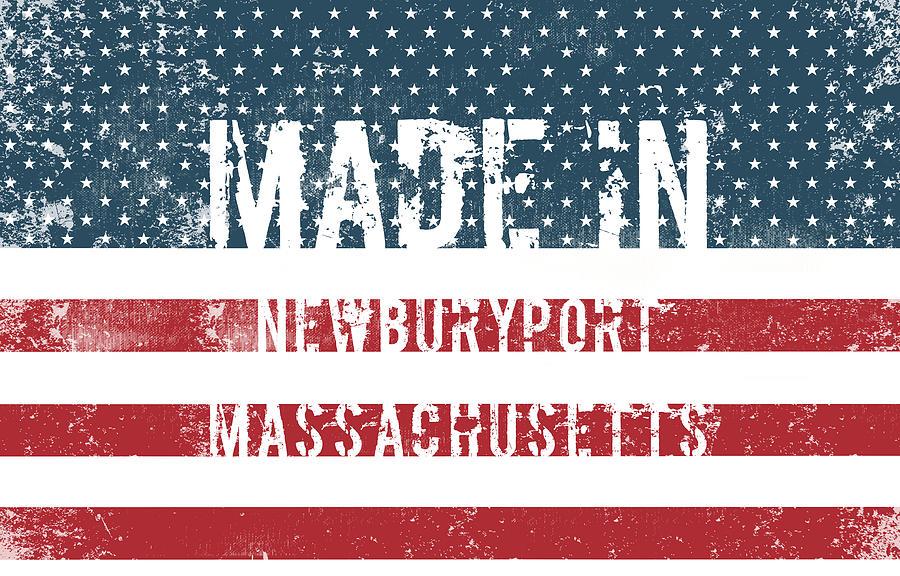Newburyport Digital Art - Made in Newburyport, Massachusetts by Tinto Designs