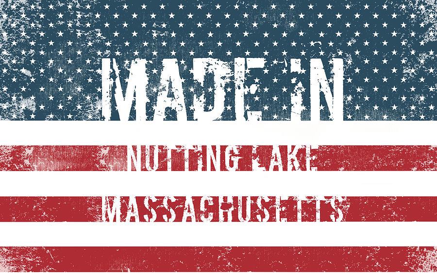 Massachusetts Digital Art - Made In Nutting Lake, Massachusetts by Tinto Designs