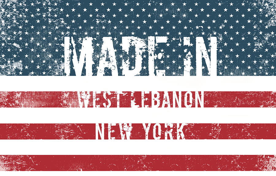 New York Digital Art - Made In West Lebanon, New York by Tinto Designs