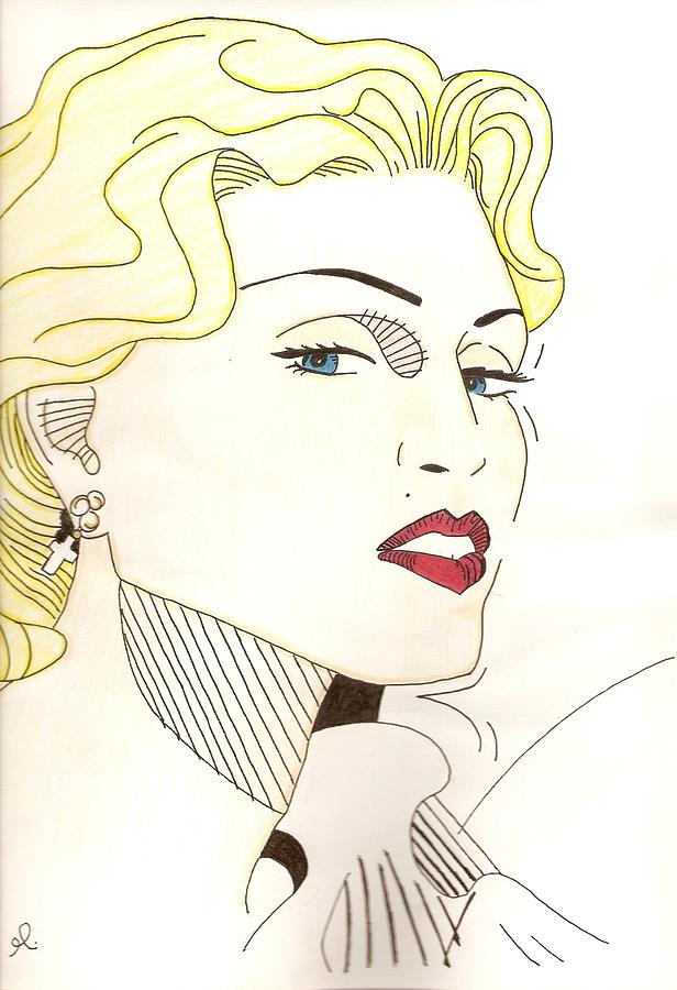 Madonna Drawing - Madonna by Michelle Kinzler