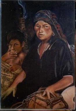 Guajira Painting - Madre E Figlio by Julio  Ariza Urbina