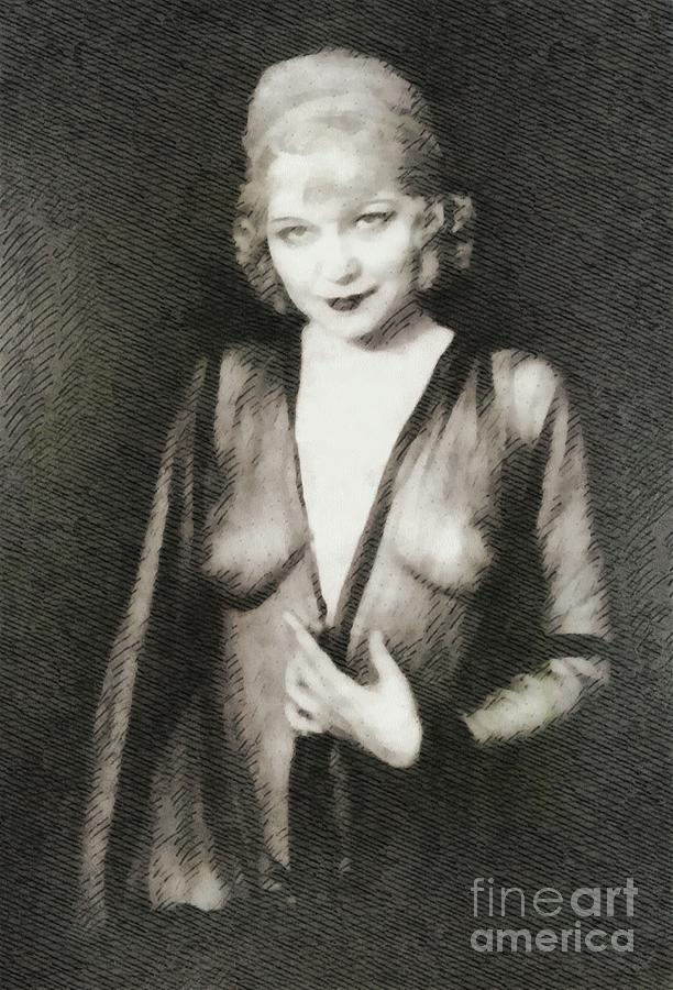 Mae West, Vintage Actress Painting