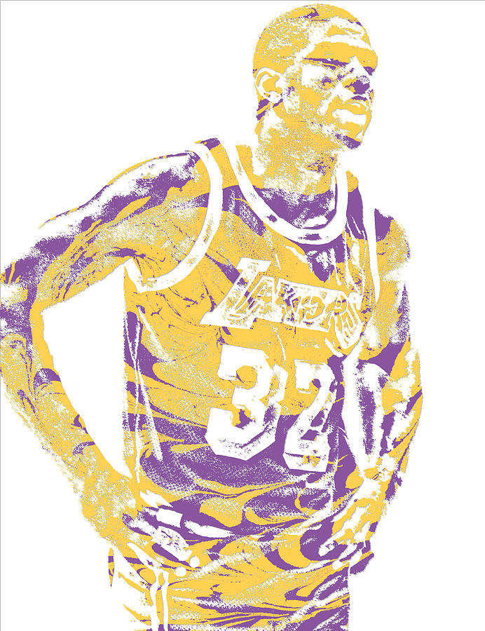 Magic Johnson Los Angeles Lakers Pixel Art 6