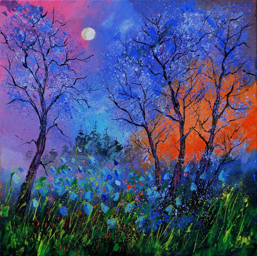 Landscape Painting - Magic wood by Pol Ledent