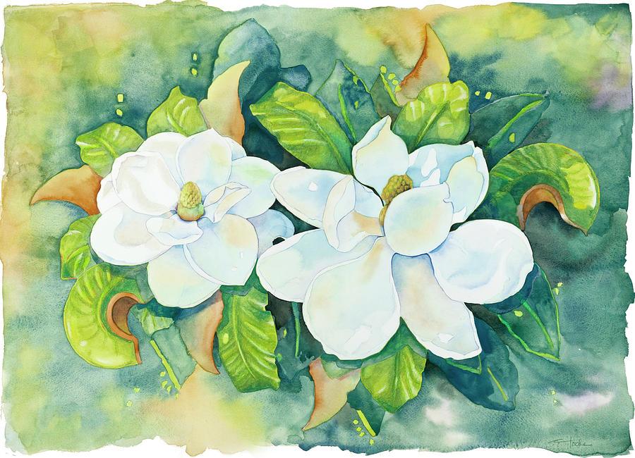Magnolias Painting - Magnolias by Cathy Locke