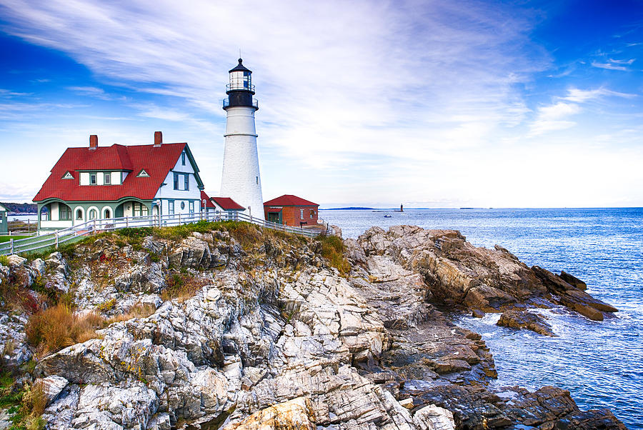 Maine Photograph - Maine Lighthouse by John Daly