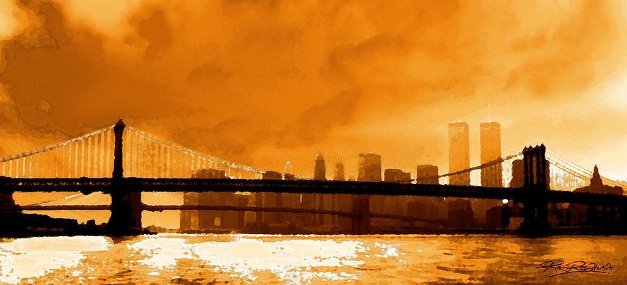 Twin Towers Photograph - Majestic Skyline by Ron Regalado