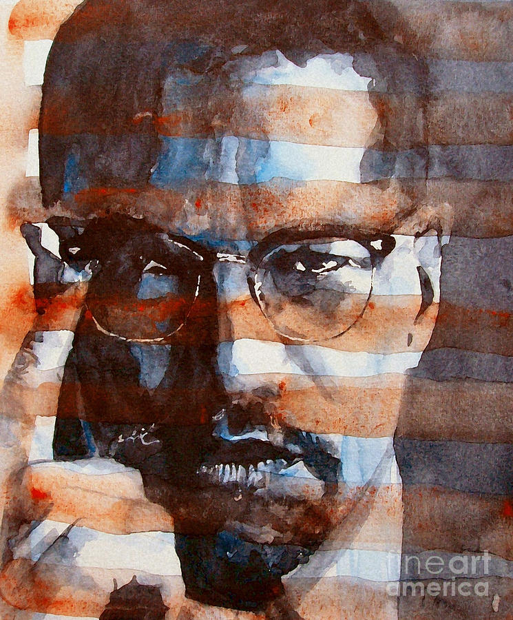 Malcolm X Painting - Malcolm X by Paul Lovering
