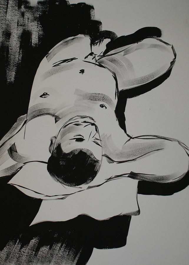 Male Nude Painting - Male Nude 1 by Joanne Claxton