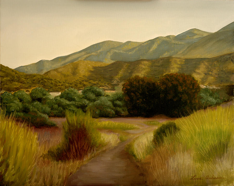 Path Painting - Malibu Trail by Lance Anderson