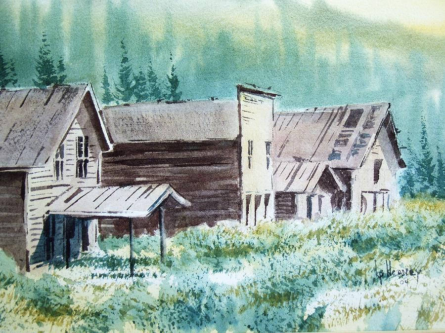 Ghost Town Painting - Mammoth Ghost Town Montana by Kevin Heaney