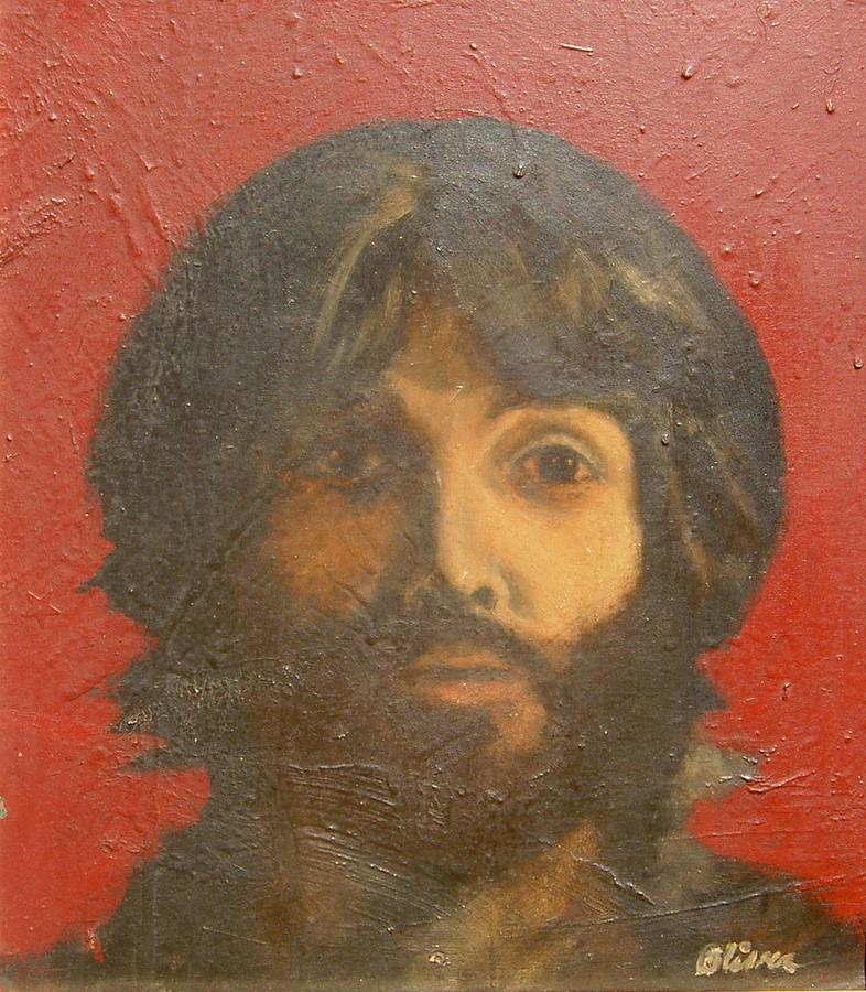 Paul Mccartney 1971 Painting - Man by Miles Mulloy