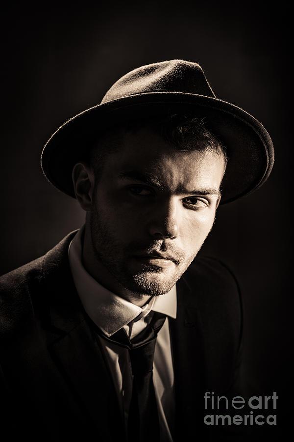 Male Photograph - Man Wearing Trilby by Amanda Elwell